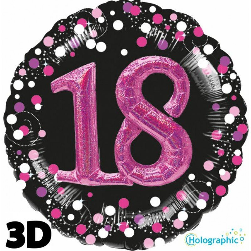 Palloncini compleanno scintille 18 anni lei grande