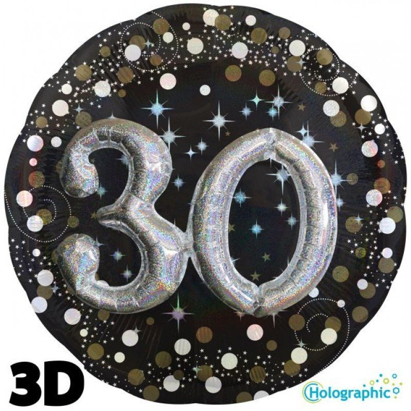 Palloncini compleanno scintille 30 anni lui grande