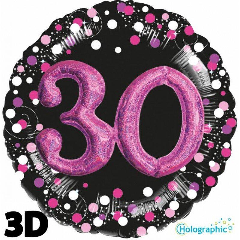 Palloncini compleanno scintille 3D 30 anni lei grande