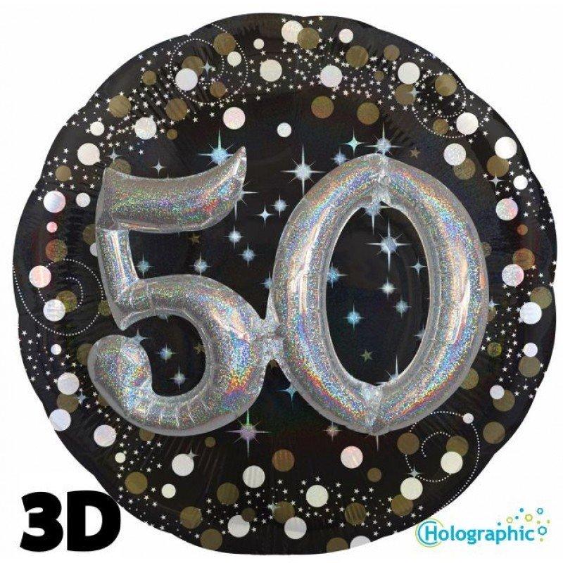 Palloncini compleanno scintille 3D 50 anni lui grande