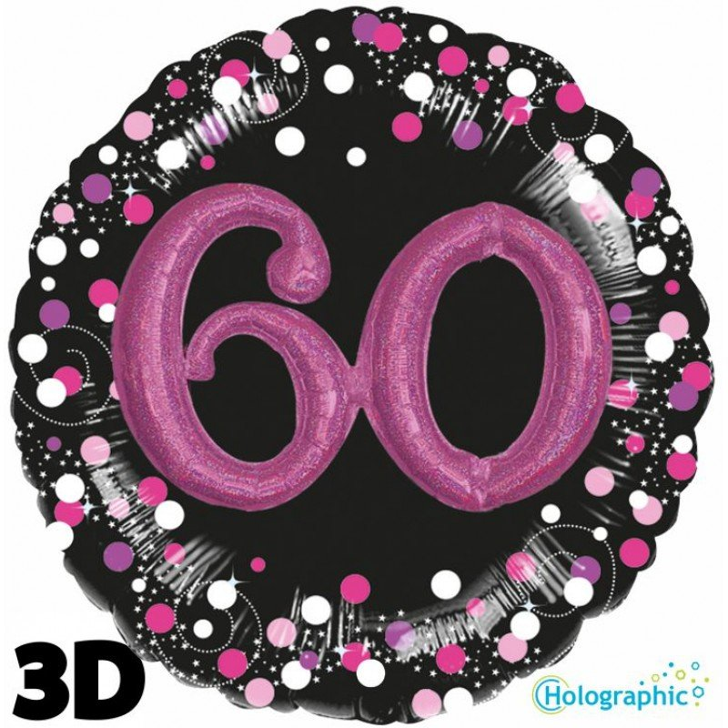 Palloncini compleanno scintille 3D 60 anni lei grande