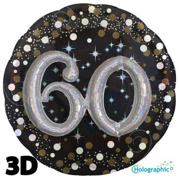 Palloncini compleanno scintille 3D 60 anni lui grande