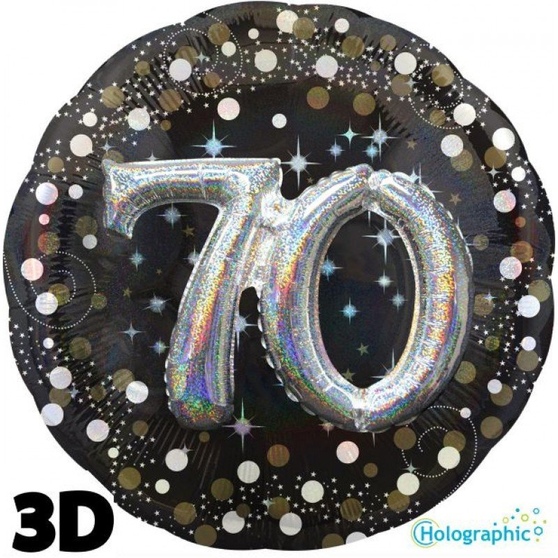 Palloncini compleanno scintille 3D 70 anni grande