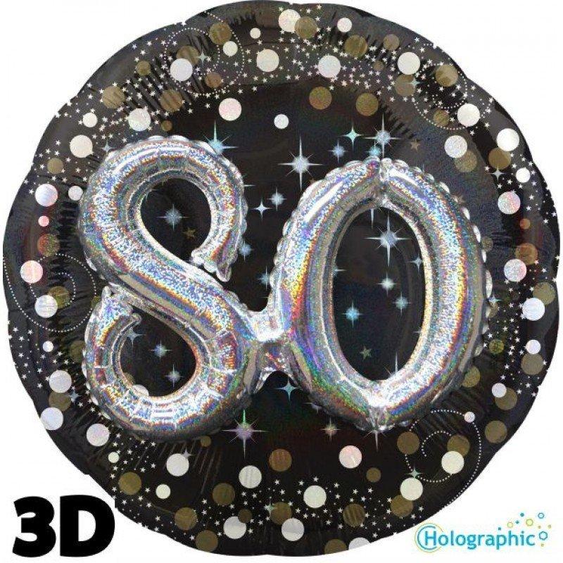 Palloncini compleanno scintille 3D 80 anni grande