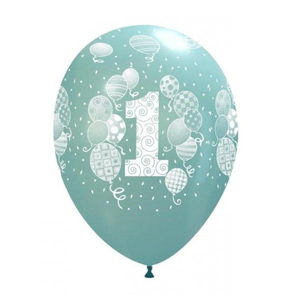 Palloncini primo compleanno stampa globo palloncini celeste