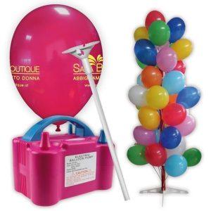kit palloncini 500 pezzi stampa 2 lati gonfiatore espositore