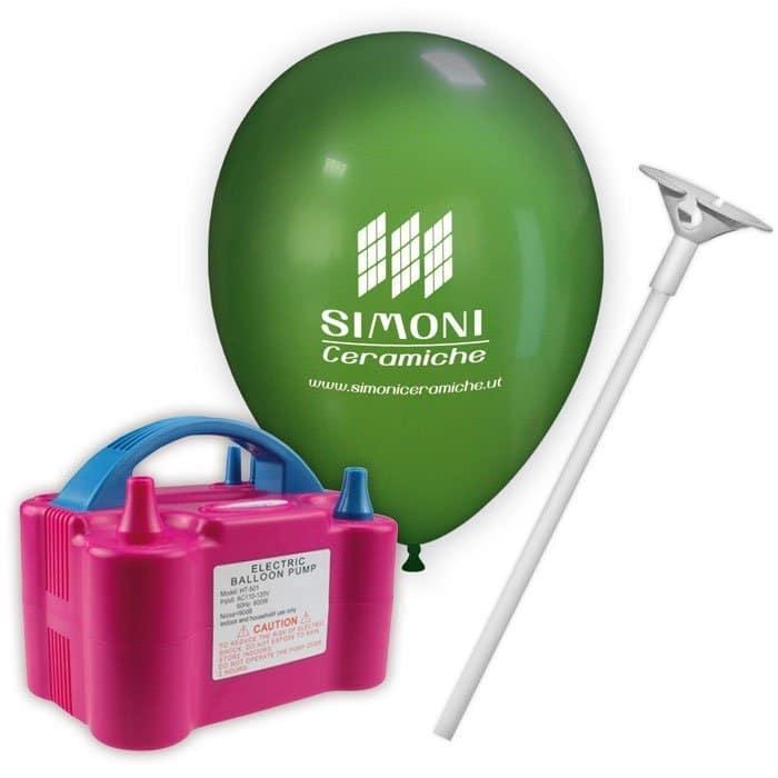 kit palloncini pubblicitari 2 – 200 palloncini con stampa 1 lato 200 bastoncini 1 pompa piccola