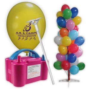 kit palloncini pubblicitari 9 – 1000 palloncini con stampa 1 lato 1000 bastoncini 1 gonfiatore elettrico espositore ad albero