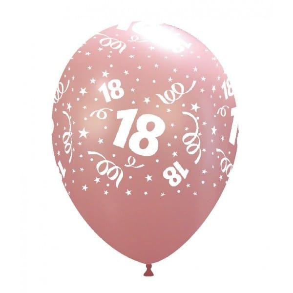 palloncini buon compleanno 18 anni stampa globo ROSA CH. 51