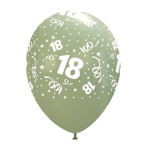 palloncini buon compleanno 18 anni stampa globo aqua