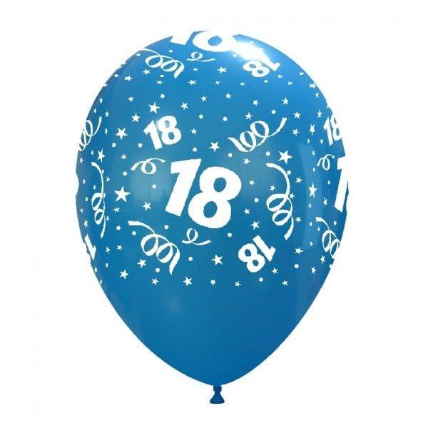 palloncini buon compleanno 18 anni stampa globo blu chiaro