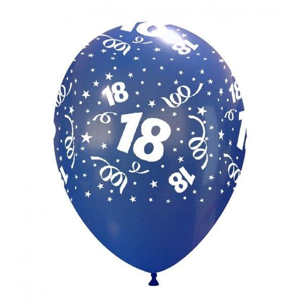 palloncini buon compleanno 18 anni stampa globo blu scuro