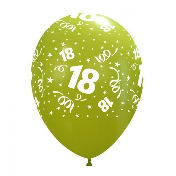 palloncini buon compleanno 18 anni stampa globo cedro