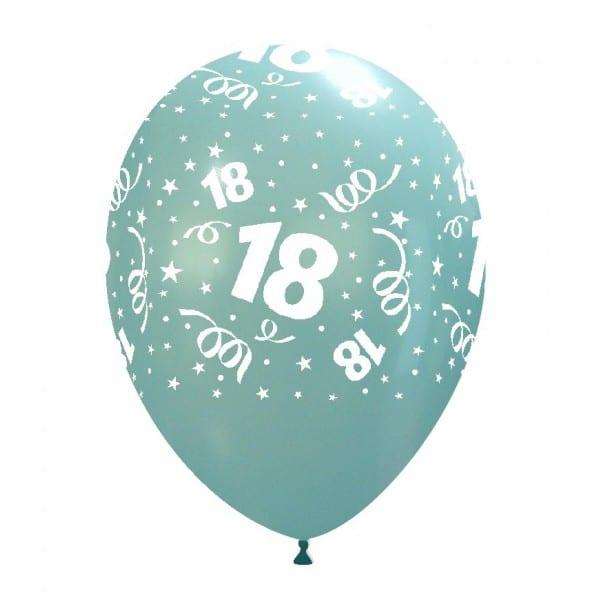 palloncini buon compleanno 18 anni stampa globo celeste