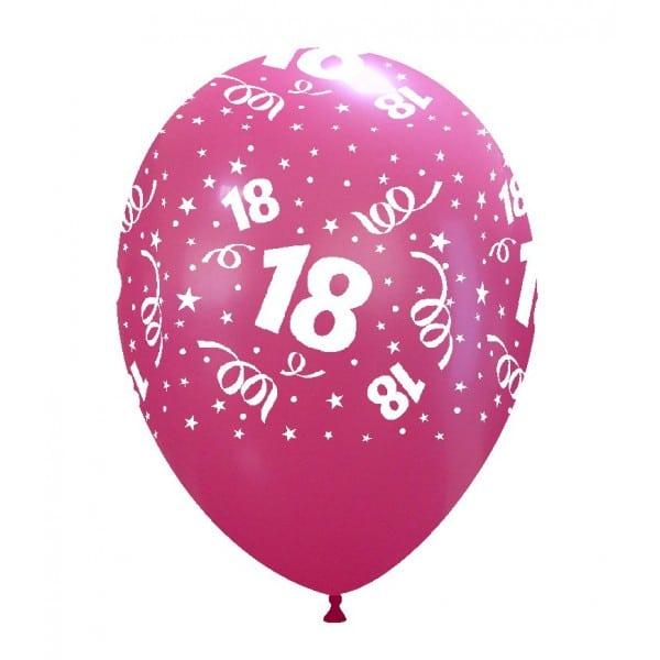 palloncini buon compleanno 18 anni stampa globo fucsia 02
