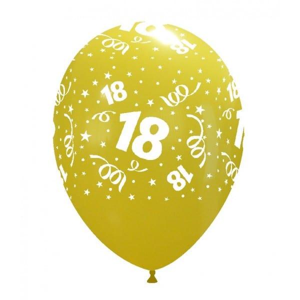 palloncini buon compleanno 18 anni stampa globo giallo chiaro