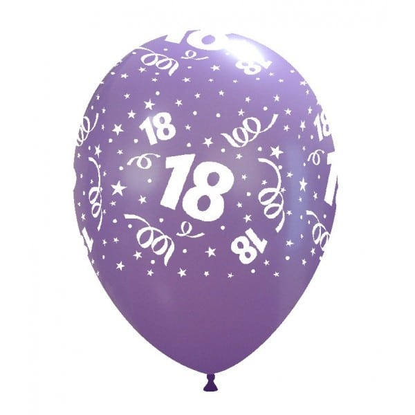 palloncini buon compleanno 18 anni stampa globo lavanda