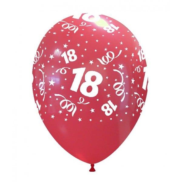 palloncini buon compleanno 18 anni stampa globo rosso 03