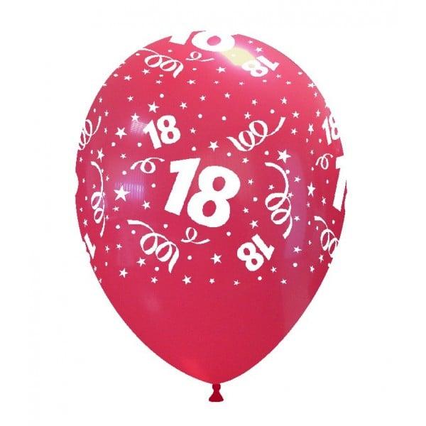 palloncini buon compleanno 18 anni stampa globo rosso 04