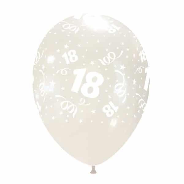 palloncini buon compleanno 18 anni stampa globo trasparente