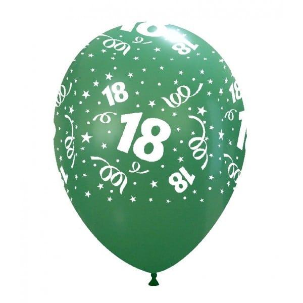 palloncini buon compleanno 18 anni stampa globo verde scuro