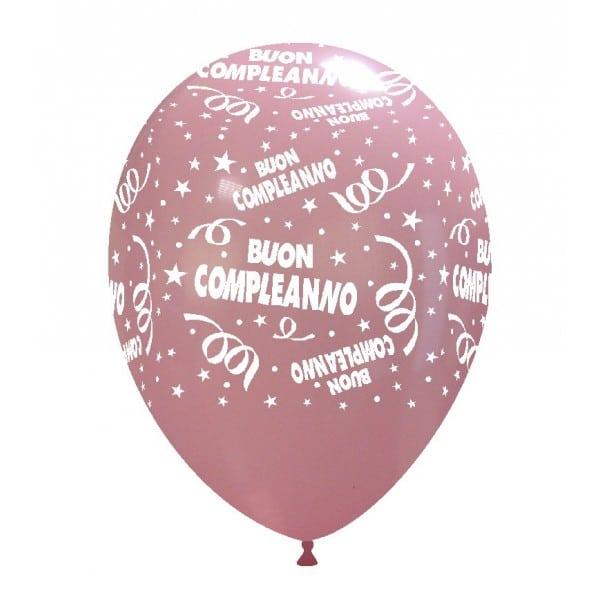 palloncini buon compleanno stampa ROSA 01