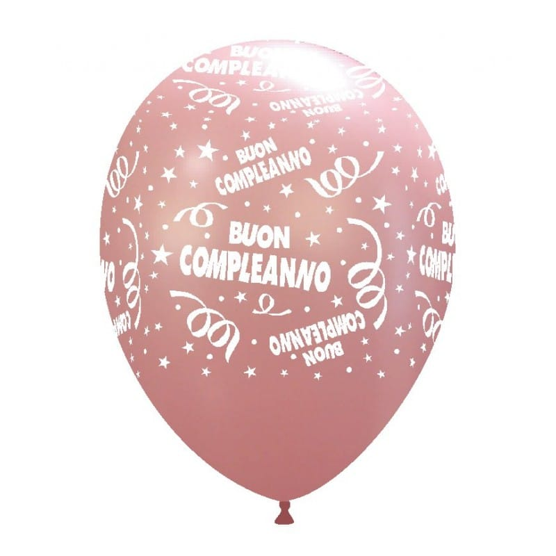 palloncini buon compleanno stampa ROSA CH. 51