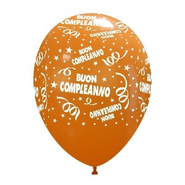 palloncini buon compleanno stampa arancione