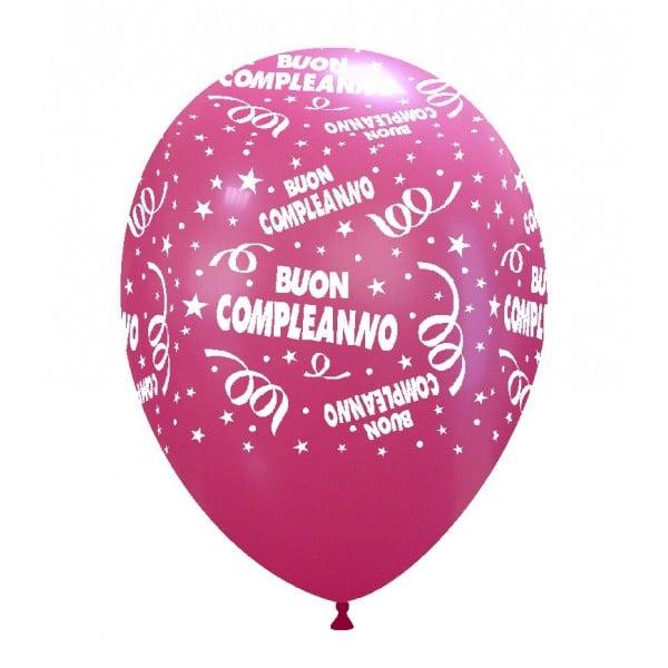 palloncini buon compleanno stampa fucsia 02
