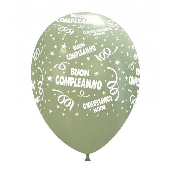 palloncini buon compleanno stampa giallo aqua