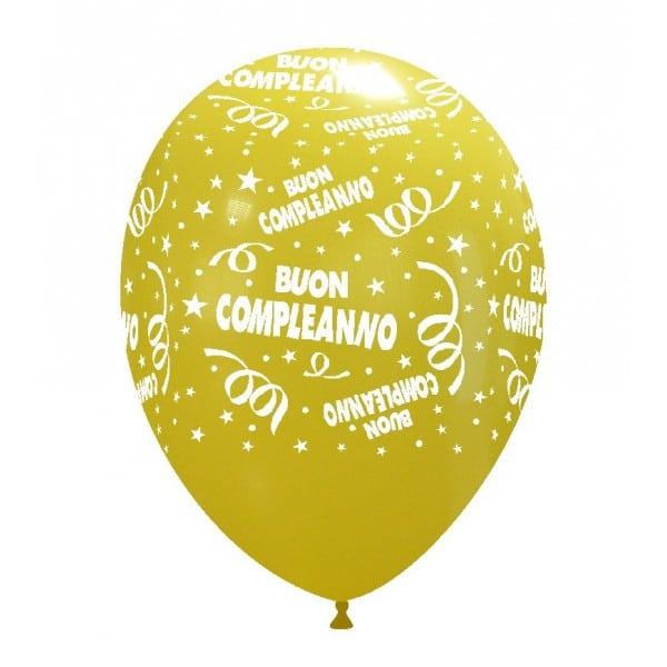 palloncini buon compleanno stampa giallo chiaro