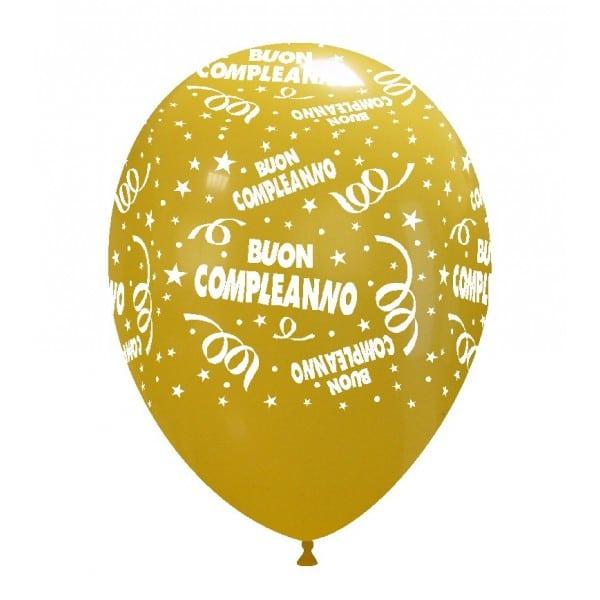 palloncini buon compleanno stampa giallo scuro