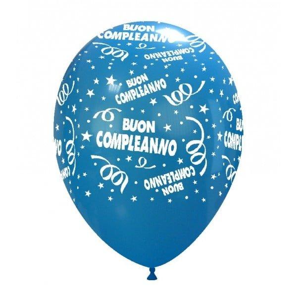 palloncini buon compleanno stampa globo blu chiaro