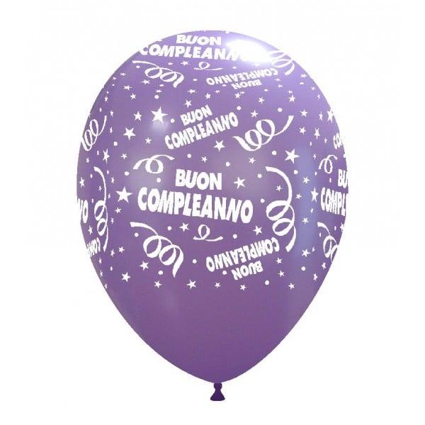 palloncini buon compleanno stampa globo lavanda