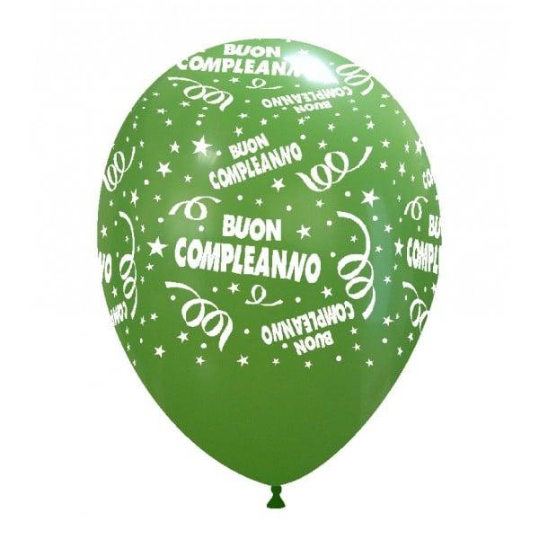 palloncini buon compleanno stampa globo verde 08