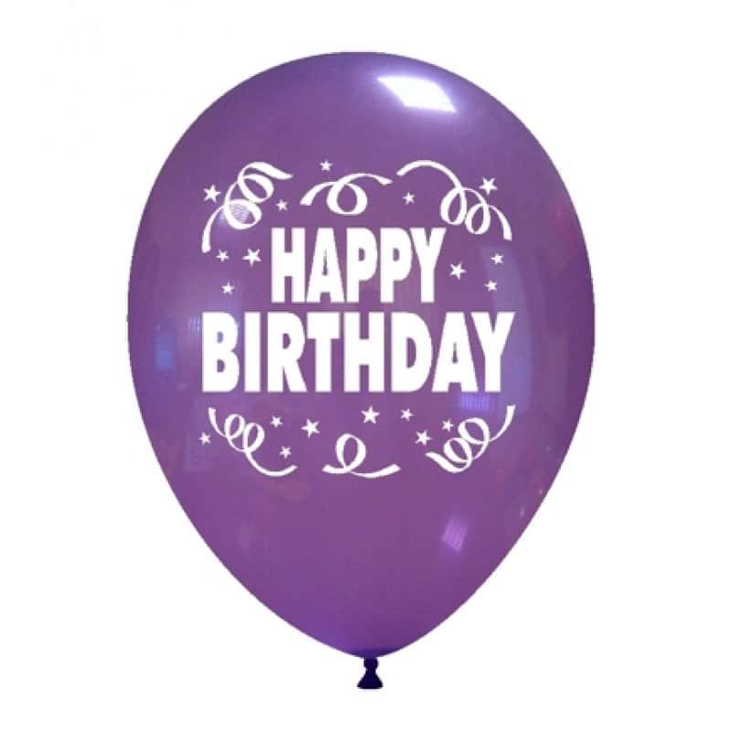 palloncini buon compleanno stampa inglese