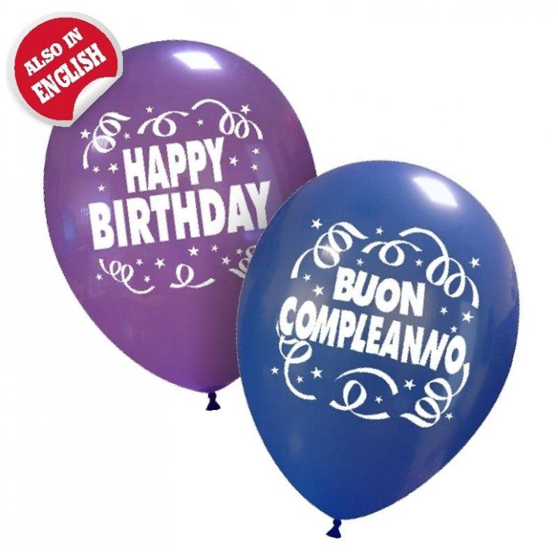 palloncini buon compleanno stampa italiano inglese