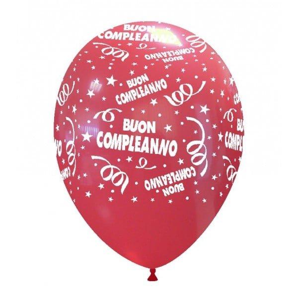 palloncini buon compleanno stampa rosso 03