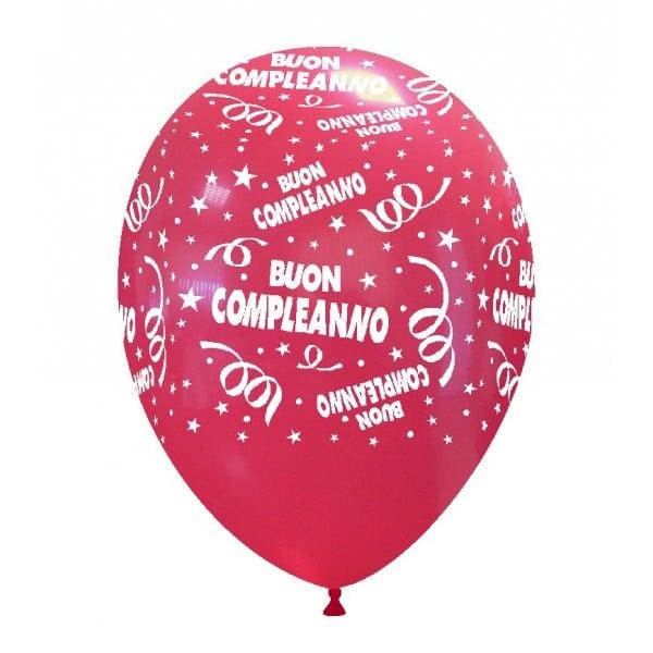 palloncini buon compleanno stampa rosso 04