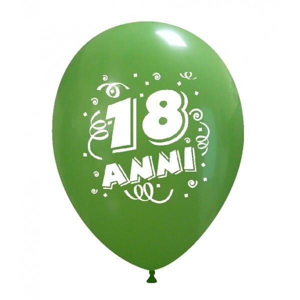 palloncini compleanno 18 anni verde