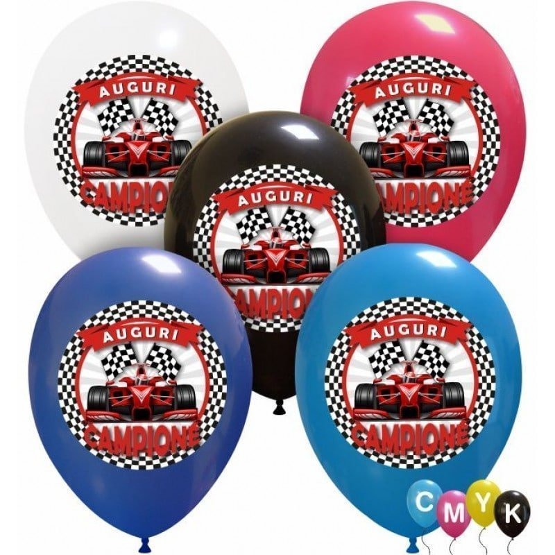 palloncini compleanno auguri campione