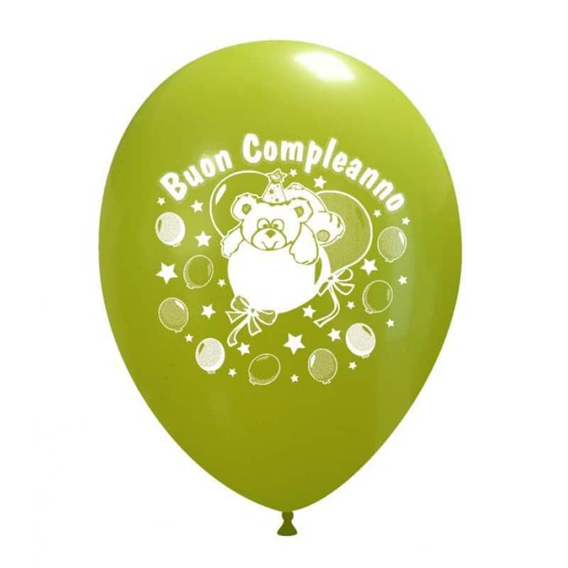 palloncini compleanno stampa buon compleanno orsetto