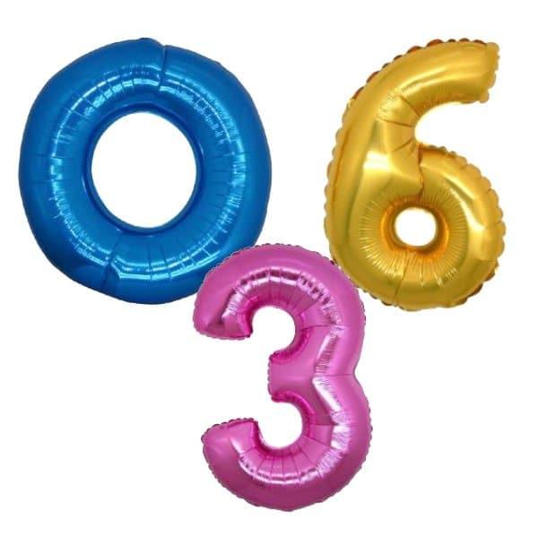 palloncini forma numero mylar