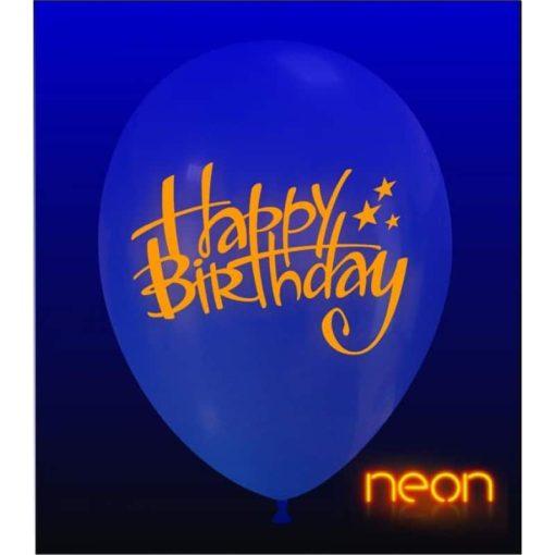 palloncini happy birthday stampa neon