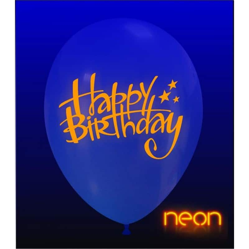 palloncini happy birthday stampa neon
