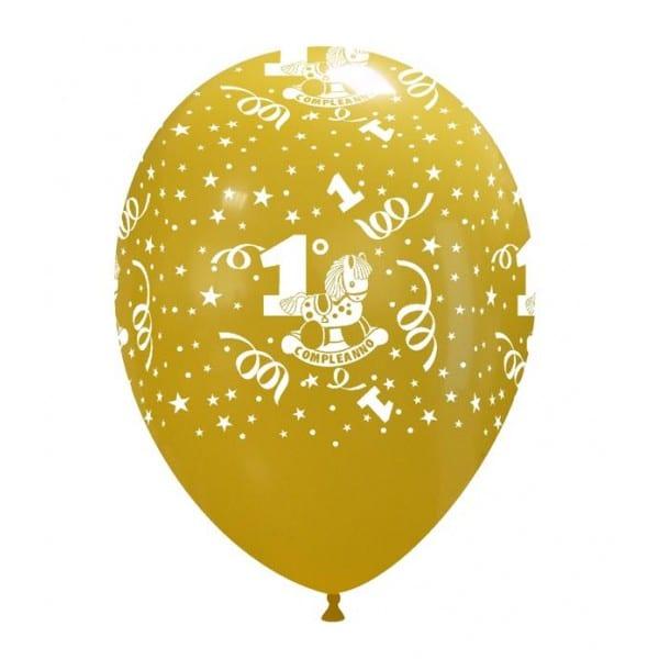 palloncini primo compleanno stampa globo assortiti