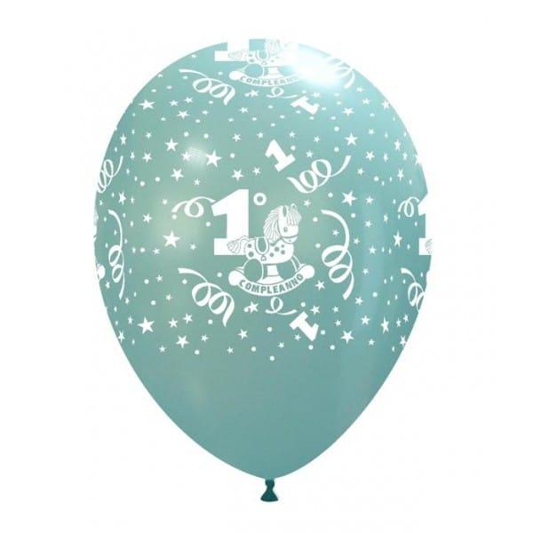 palloncini primo compleanno stampa globo celeste