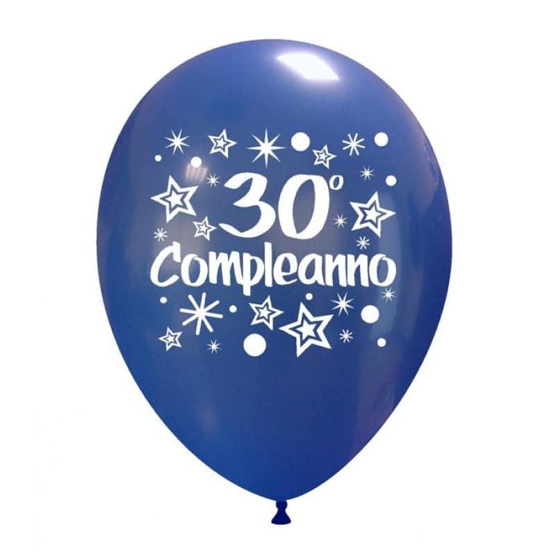 palloncini trentesimo compleanno
