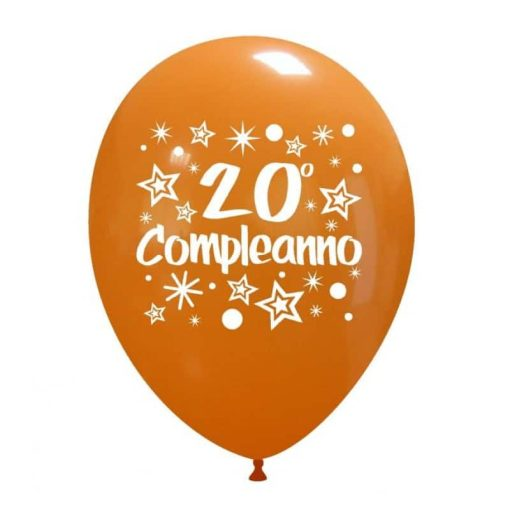 palloncini ventesimo compleanno