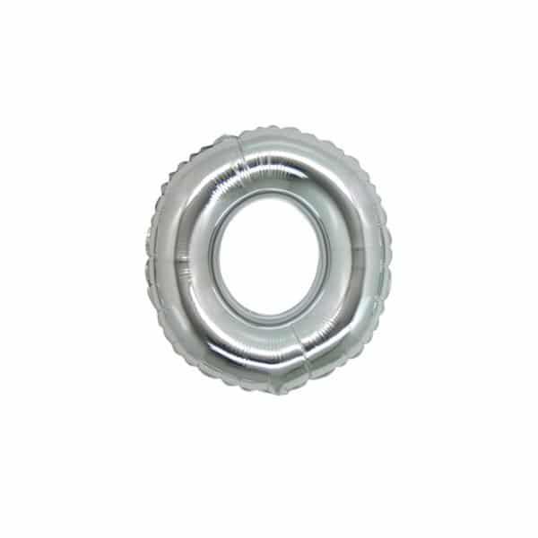 palloncino numero mylar 0 piccolo argento